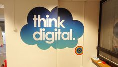 Printed Logo Wall Stickers #inspiration #printed #stickers #design #graphic #wall