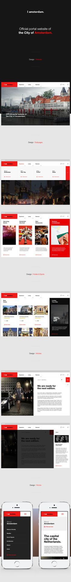 iAmsterdam on Behance #menu