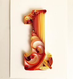 Paper, 3D, typography, Quilling