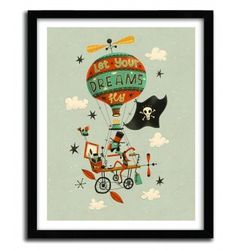 MAKE YOUR DREAMS FLY by STEVE SIMPSON #print #art