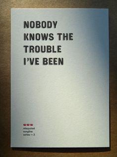 Trouble #letterpress