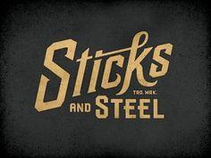 Dribbble - Sticksteel Cut by Richie Stewart #typography #logo #identity #sticksteel cut #richie stewart