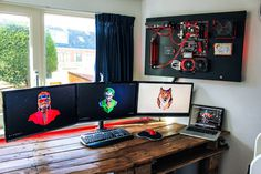 Wall mounted game pc build