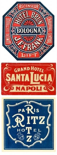 UPPERCASE - journal - Type Tuesday: LuggageLabels #design #vintage #label
