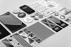 Graphic Design: French studio Murmure's amazing geometric festival identity #white #nordic #black #murmure #and