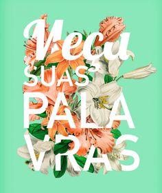 Typography Flower by Carolina Lima