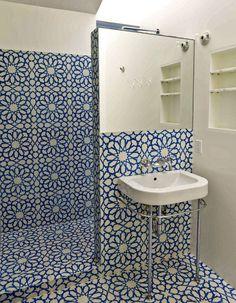 AlhambraBlueWhiteGranadaCementTile HR copy #interior #tiles #design #decor #deco #decoration