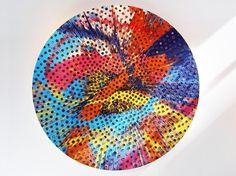 damien hirst: beautiful sunflower panerai painting #colours #colors #hirst #time #art #clock #splash #damien