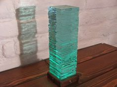 Stacked Glass LED Light #glass #lamp