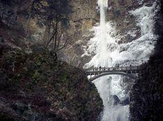 malcolm lee #landscape #photography #bridge #waterfall #oregon