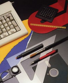 inspirationos #keyboard #designer #advertising #80s #pencil