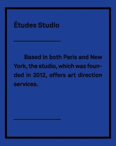 Etudes studio #french