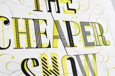 The Cheaper Show - Working Format #type #lettering