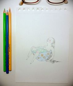 (11) Tumblr #illustration #tea #traditional #girl