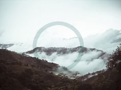 Blue circle #clouds #sky #color #landscape #circle #mountains
