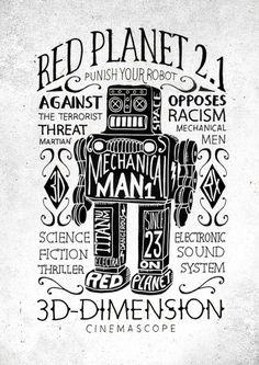 print2 #robot #design #typography
