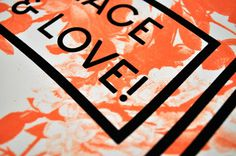 Peace&Love #print #design #graphic #screen #poster #typography