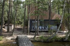 Panoramic Lake Cabin by FAM Architekti and Feilden Mawson #cabin