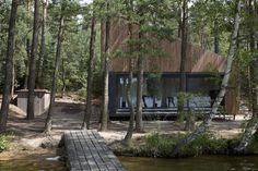 Panoramic Lake Cabin by FAM Architekti and Feilden Mawson #cabin