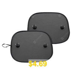 Car #Magnetic #Net #Sunshade #Baffles #2pcs #- #BLACK