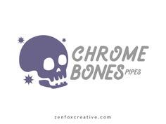 Chrome Bones Pipes logo