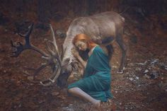 Portraits With Real Animals by Katerina Plotnikova #inspiration #photography #portrait