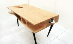 CATable #cat #wood #furniture #table #pet