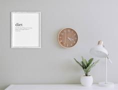 Diet Definition Wall Art Poster Design