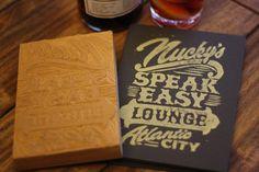 Nucky's Speakeasy Lounge #handtype #letterpress