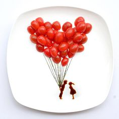 16 Awesome Food Art Ideas | Bored Panda #sauce #balloons #food #art #tomatoes