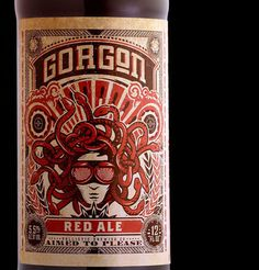 Ballistic Brewing Gorgon Red Ale #beer #bottle #label #packaging