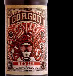 Ballistic Brewing Gorgon Red Ale #beer #bottle #label #packaging