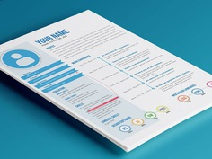 Free Flat Timeline Resume in Illustrator Format