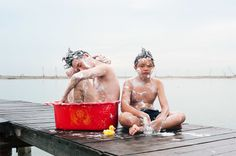 Self-Portraits on Behance #shower #town #photography #china #kids #childs