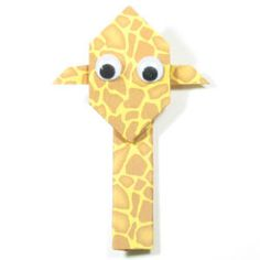 How to make an easy origami giraffe (http://www.origami-make.org/howto-origami-giraffe.php)