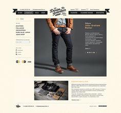 Denim Pavilion website by Pavel Emelyanov #logo #identity #web