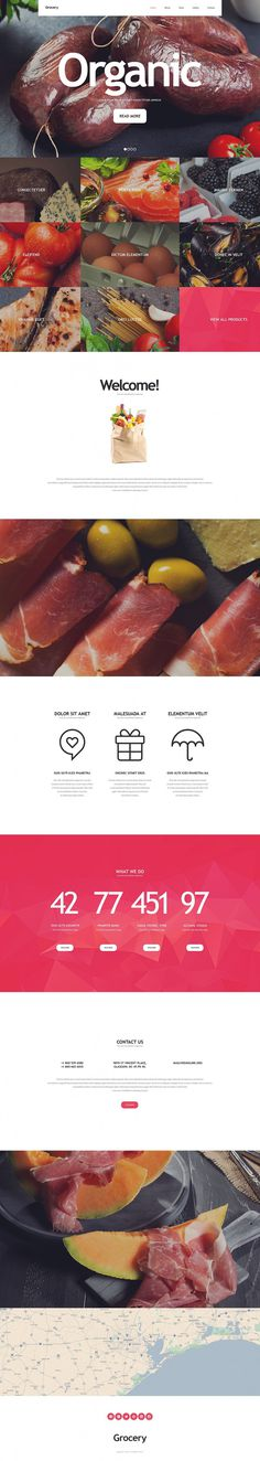 Food Store Website Template