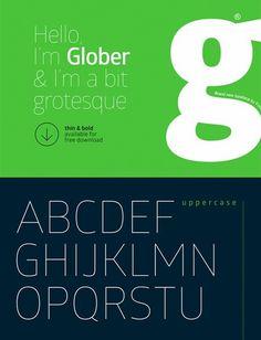 free fonts 2014 Glober #fonts