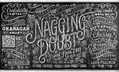 Nagging-Doubt-Pinot-Noir.jpg #dana #lettering #chalk #drawn #type #hand