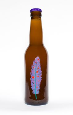 Omnipollo Beer Label #glow #feather