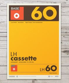 Audio Cassette Posters by Neil Stevens #helvetica #swiss #typography