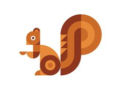 Ty Wilkins - Squirrel #icon #bold #squirrel #illustration #minimal #animal