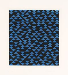 The Josef & Anni Albers Foundation #anni #1976 #v #intaglio #geometric #aquatint #triangulated #etching #albers