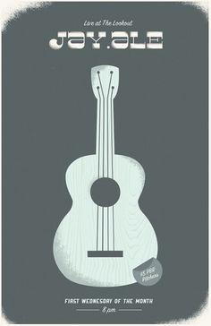 Jay.ale Concert Poster - Portfolio #guitar #acoustic #texture #poster #blue #concert