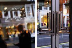 Design Work Life » here design: Café Luc Identity #logo