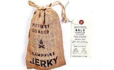 Whiskey Soaked Campfire Jerky #packaging