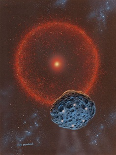 """moonzerotwo: """"Red Star and Meteorite - Richard Sternbach """""""