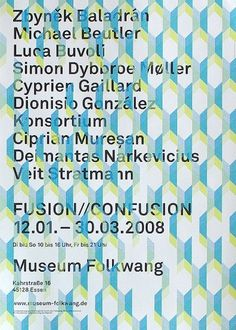 Museum Folkwang; Plakat : JUNG + WENIG #design #graphic #poster #typography