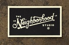 the neighborhood studio #lettering #design