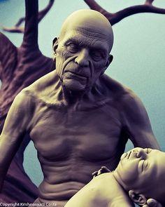 Krishnamurti Martins Costa aka Antropus www.graphic-inspiration.com picture on VisualizeUs #dynamic #old #child #clay #man